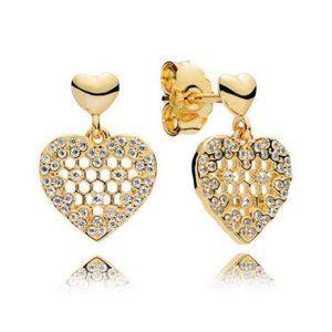 🔥Pandora🔥 Honeycomb Lace Dangle Earrings